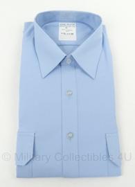 KMAR Koninklijke Marechaussee Heren overhemd lichtblauw - KORTE mouw - nieuw in verpakking - maat 43 - origineel
