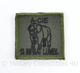 Defensie borst eenheid embleem A cie 13 Infbat Lumbl Luchtmobiele Brigade - met klittenband - 5 x 5 cm - origineel