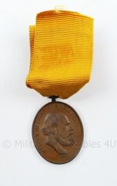 Nederlandse medaille voor IJver en trouw - Koning Willem II (1792-1849) - Koning der Nederlanden - 8 x 4 cm - origineel