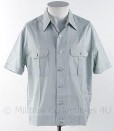 DDR lichtblauw overhemd korte mouw met zilveren knopen - maat 41M - origineel
