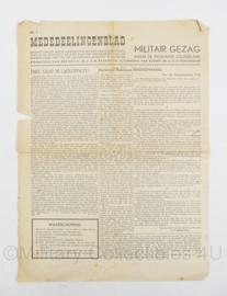 Mededeelingenblad Militair gezag voor de provincie Gelderland 1945 - origineel