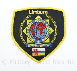 Embleem IPA Limburg International Police Association - 10,5 x 10 cm - origineel