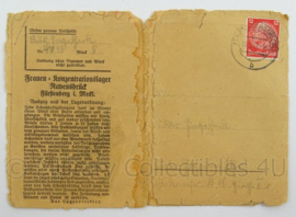 WO2 Duitse postkarte 1941 - konzentrationslager Ravensbruck - afmeting 16 x 11,5 cm - origineel