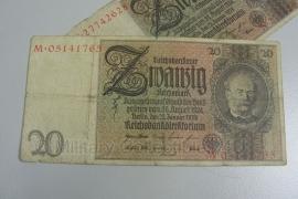Reichsmark Briefgeld WO2 - 20 RM