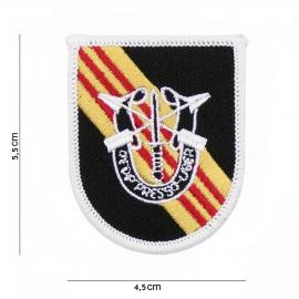 Special Forces baret insigne green berrets MET logo - stof - 5,5 x 4,5 cm.