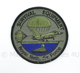 KLU Luchtmacht RNLAF Survival Equipment patch  - diameter 10 cm - origineel