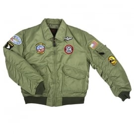 Kinder CWU flight jacket - zwart of groen - nu ook in maat xxl!