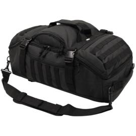 Cargo pack BLACK  -  rugzak en sporttas in 1 - 62x35x25 cm / 48 liter