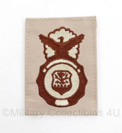 US Air Force Desert Security Police badge borst embleem - 6 x 8 cm - origineel