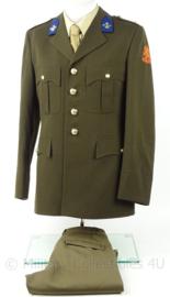 KL Landmacht DT uniform jas en broek Aan- en afvoertroepen 2e luitenant  - model voor 2000 aan en afvoer troepen - met insignes - maat 49 - origineel