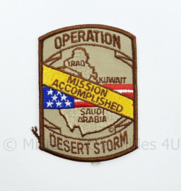 US Operation Desert storm Golfoorlog embleem Mission Accomplished - 11 x 8 cm - origineel