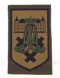 KL eenheid arm embleem Koninklijke Militaire Academie Breda - groen - origineel
