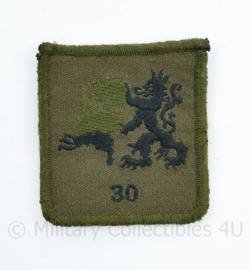 Defensie borst embleem 30 Natresbataljon van Korps Nationale Reserve - met klittenband - 5 x 5,5 cm - origineel