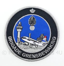 KMAR Koninklijke Marechaussee Brigade Grensbewaking embleem - met klittenband - diameter 9 cm