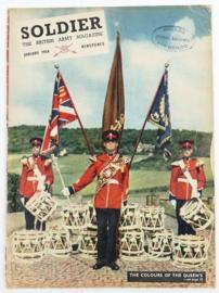 The British Army Magazine Soldier January 1954 -  Afkomstig uit de Nederlandse MVO bibliotheek - 30 x 22 cm - origineel