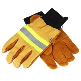 Brandweer handschoenen vlamwerend Heat Resistant met reflectie - maat Large - nieuw gemaakt