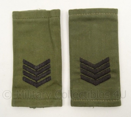 KM Marine Korps Mariniers GVT rang epauletten Sergeant Majoor - afmeting 5 x 11 cm - origineel