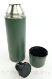 Defensie nieuwste model 2020 thermoskan - geheel metaal - 30 x 8 x 9 cm - origineel