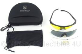 KL Landmacht Revision bril set - gebruikte glazen - afmeting verpakking 16,5 x 11,5 cm - origineel
