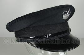 Schotse zwarte politie heren platte pet - Scottish Prison Guard - maat 57, 58 of 59 - origineel