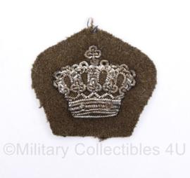 MVO rang insigne kroontje metaaldraad - 4 x 4 cm -  origineel