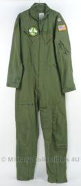 US Flyers Overall NOMEX type 1 Luchtmacht groen CAPTAIN - CWU 27 - maat 44L = 54 lang- origineel