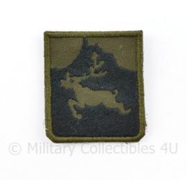 Korps Mariniers Hijgend Hert Koud Weer training borstembleem - met klittenband - 5 x 5 cm - origineel