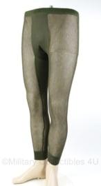 Korps Mariniers en Noorse leger ondergoed broek groen - nieuw in verpakking - maat Stor = Large- origineel