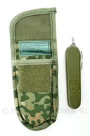 KL Nederlandse leger opbouwtas met groen zakmes NFP Multitone - nieuwste model - 12,5 x 7 x 3 cm - nieuw in verpakking - origineel