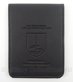 KL Landmacht organiser met notitieblok van het 1ste DE-NL legerkorps - zwart leder - 12 x 16 cm - origineel