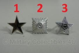 Uniform sterren los - keuze uit 3 soorten - 1 cm.