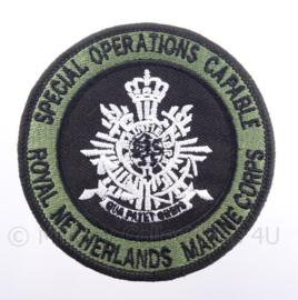 KM Koninklijke Marine, Korps Mariniers embleem, special operations capable - met klittenband - diameter 9 cm
