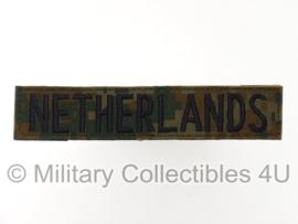 """""""Netherlands"""" marpat camo branch tape/naamlint met klittenband - nieuw gemaakt"""