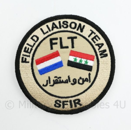 Defensie FLT Field Liaison Team SFIR embleem - met klittenband - diameter 9 cm