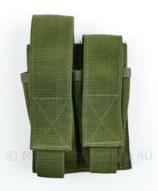 Defensie en Korps Mariniers en US Army groene Molle pouch double magazin Pistol - 15 x 10 x 4 cm - nieuw - origineel