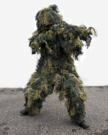 Ghillie Suit 4-delig! - met rifle cover  - Woodland - anti fire