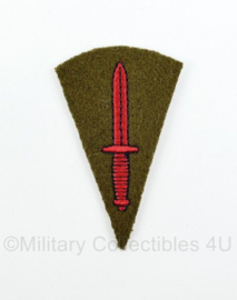 WO2 Britse British Royal Marine Commando Brigade Dagger patch embleem - Green base - 4,5 x 7 cm