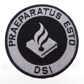 "Nederlandse Politie DSI  Dienst Speciale Interventie embleem ""Praeparatus Esto"" -  met klittenband - diameter 10 cm -"