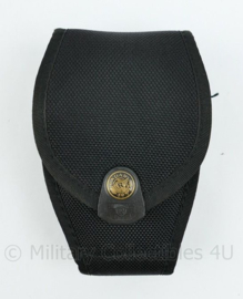 Politie, Kmar en Security handboeien tas zwart Nylon - merk RADAR - 14,5 x 10 x 4  cm - origineel