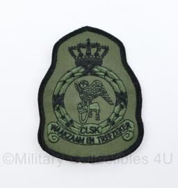 KLU Koninklijke Luchtmacht CLSK Commando's Lucht Strijdkrachten GVT mouwembleem - Waakzaam en Trefzeker - 11,5 x 8 cm - origineel