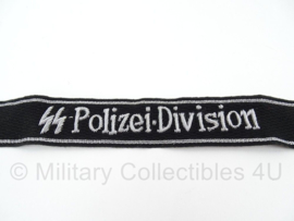 SS Polizei Division officiers cufftitle