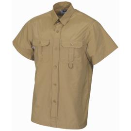 Overhemd khaki korte mouw - 2 borstzakken - meerdere maten - nieuw gemaakt