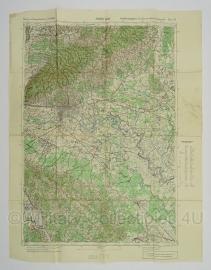 Duitse stafkaart Jugoslawien Zagreb (Agram) Blatt 28 Sonderausgabe Nur für den Dienstgebrauch Joegoslavie - 64,5 x 50 cm. schaal 1:100000 - origineel 1932