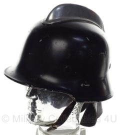 WO2 Duitse Brandweer helm - zwart - aluminium - maat 56,5 - origineel