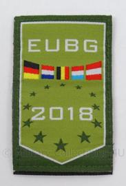 KL Landmacht borst embleem EUBG 2018 - afmeting 5 x 8,5 cm - origineel