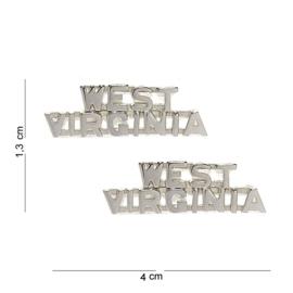 US kraaginsigne PAAR West-Virginia metaal - 1,3 x 4 cm