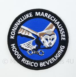 KMAR Koninklijke Marechaussee Hoog Risico Beveiliging embleem - met klittenband - diameter 9 cm