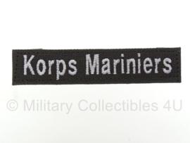 Naamlint Korps Mariniers met klittenband Groen - nieuw gemaakt