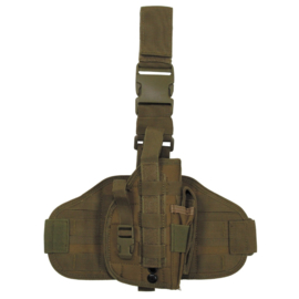 Molle been- en koppel paneel MET verwijderbaar universeel holster - COYOTE