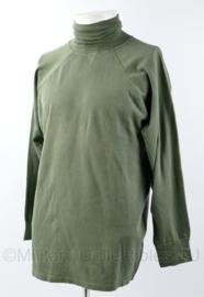 KLU Luchtmacht onder shirt rolkraag groen - nieuwe type 2003 - 98% katoen - maat 7 - nieuw - origineel